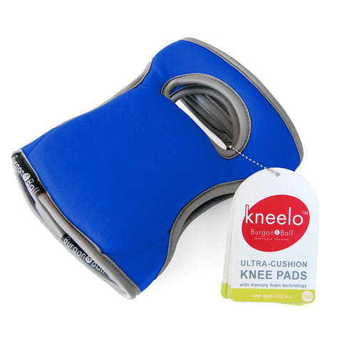 Burgon & Ball Kneelo® gardening knee pads in Cobalt, memory foam knee pads