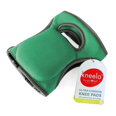 Burgon & Ball Kneelo® gardening knee pads in Emerald, memory foam knee pads
