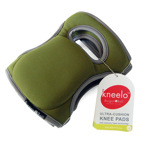 Burgon & Ball Kneelo® gardening knee pads in Moss, memory foam knee pads