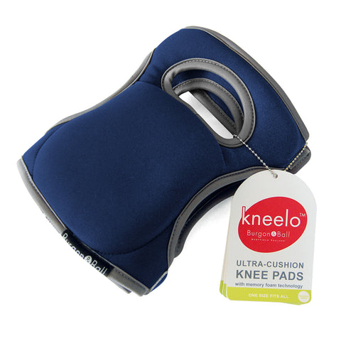 Burgon & Ball Kneelo® gardening knee pads in Navy, memory foam knee pads