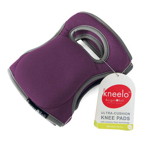Burgon & Ball Kneelo® gardening knee pads in Plum, memory foam knee pads