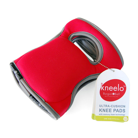 Burgon & Ball Kneelo® gardening knee pads in Poppy, memory foam knee pads