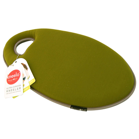 Kneelo® memory foam garden kneeler in 'Moss' colour by Burgon & Ball