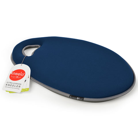 Kneelo® memory foam garden kneeler in 'Navy' colour by Burgon & Ball