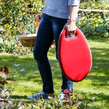 Kneelo® memory foam garden kneeler in 'Poppy' colour by Burgon & Ball