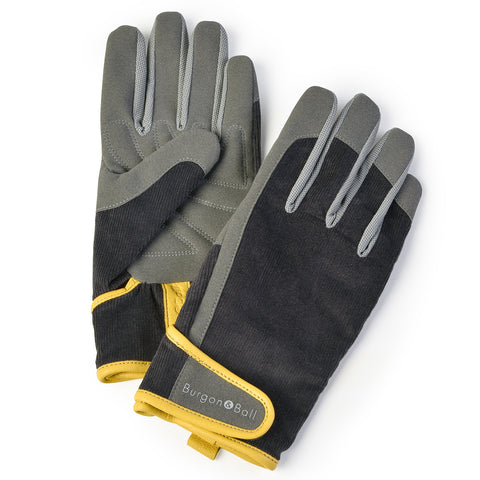 Dig The Glove men's gardening glove in Slate Corduroy, by Burgon & Ball