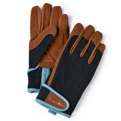 Dig The Glove men's gardening glove in Denim, by Burgon & Ball