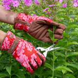 'Love The Glove' Oak Leaf ladies' gardening glove in Poppy by Burgon & Ball