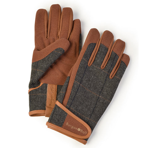 Dig The Glove men's gardening glove in Tweed, by Burgon & Ball