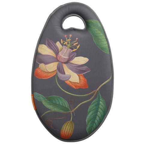 Kneelo® memory foam garden kneeler in RHS 'Passiflora' design, by Burgon & Ball