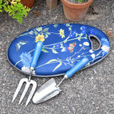 RHS Gifts for Gardeners British Meadow gift-boxed trowel and fork set by Burgon & Ball