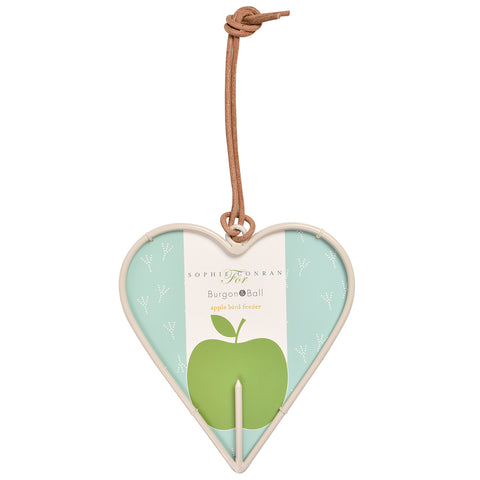 Sophie Conran for Burgon & Ball apple bird feeder  - heart design
