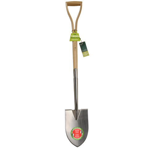 RHS-endorsed large Groundbreaker spade (garden spade) by Burgon & Ball