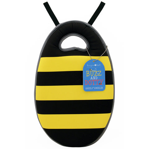 Kneelo® memory foam children's garden kneeler in 'Buzz the Bee' design, by Burgon & Ball