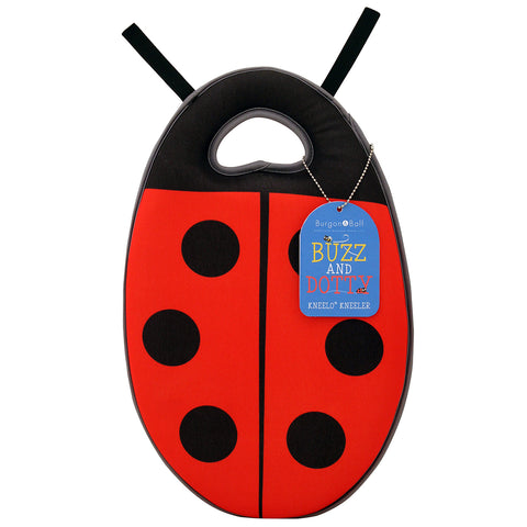 Kneelo® memory foam children's garden kneeler in 'Dotty the Ladybird' design, by Burgon & Ball