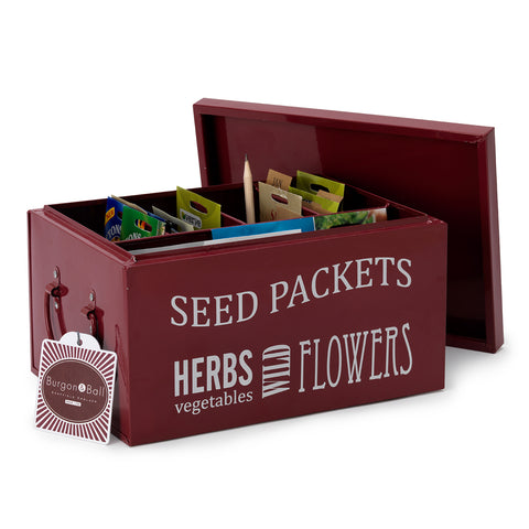 Seed Packets Organiser - Burgundy