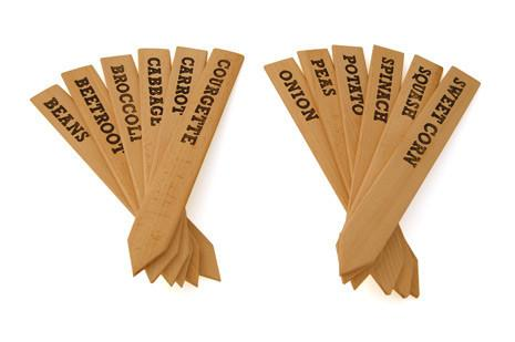 Giant Wooden Labels - Vegetables