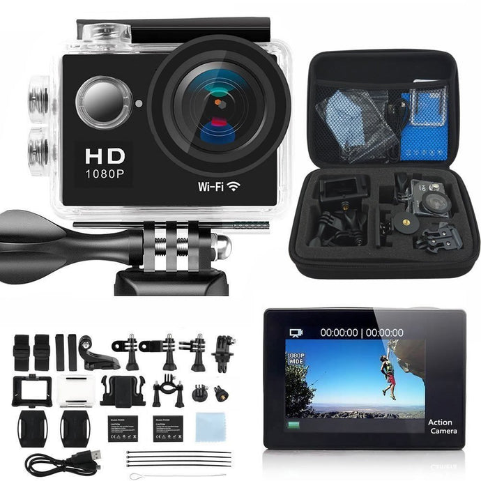 VPro Full HD 1080p Sports Camera With 170 Degree Ultra-wide Angle Lens