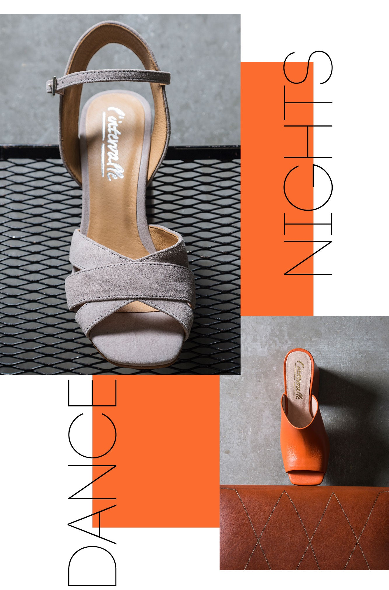 Ankle-strap pumps and mules for dance in your neon nights. Shoes made in Spain.