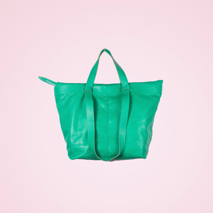 Geraldine Green Leather
