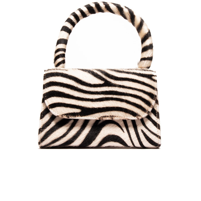 Anina Small Zebra Stripe Pony Hair