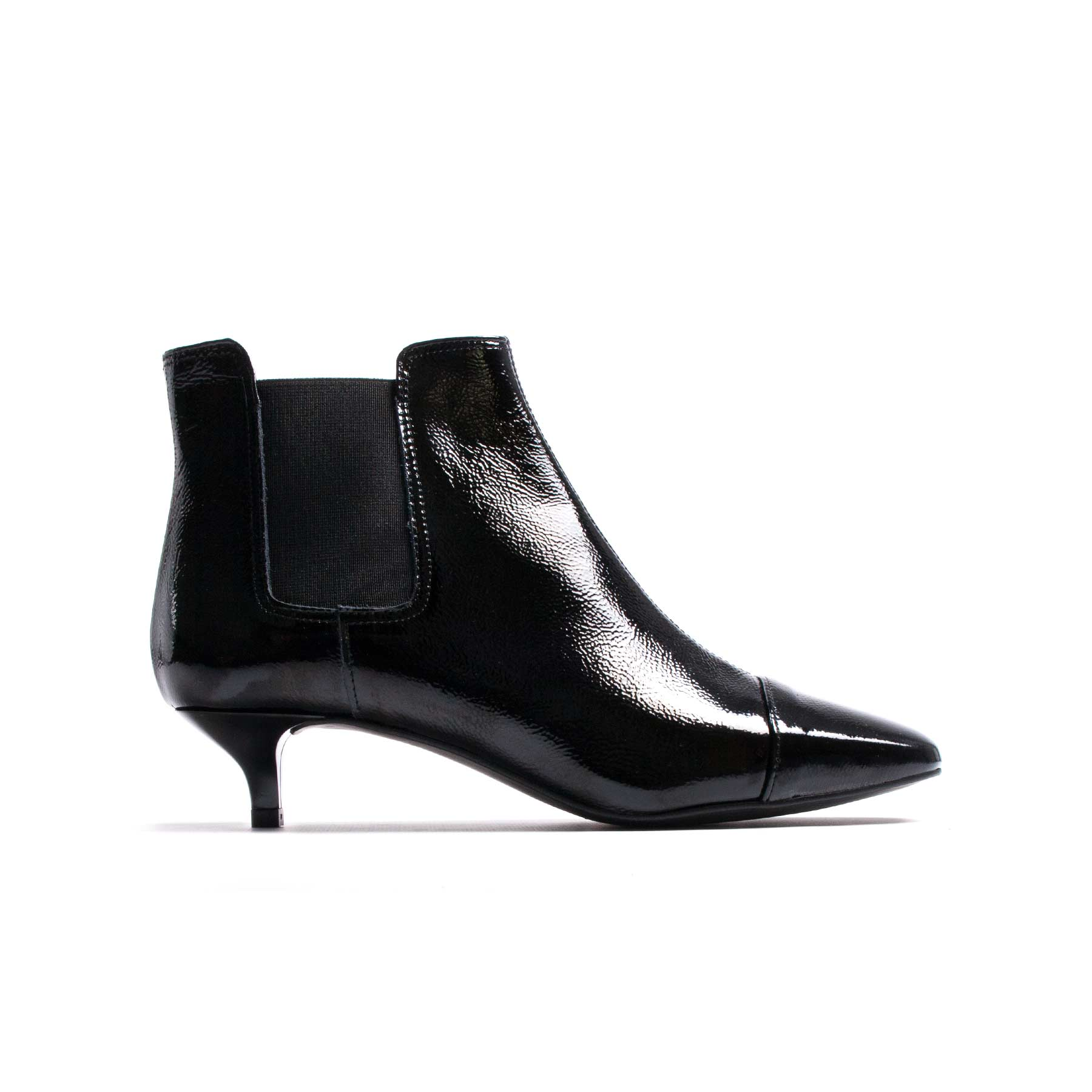 Boots, Atwood Black Patent Leather - Lintervalle shoes for woman