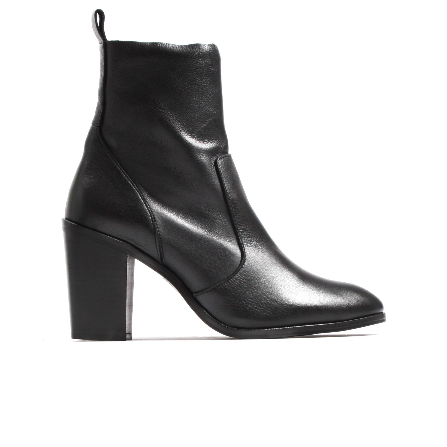 Barron Black Leather Booties