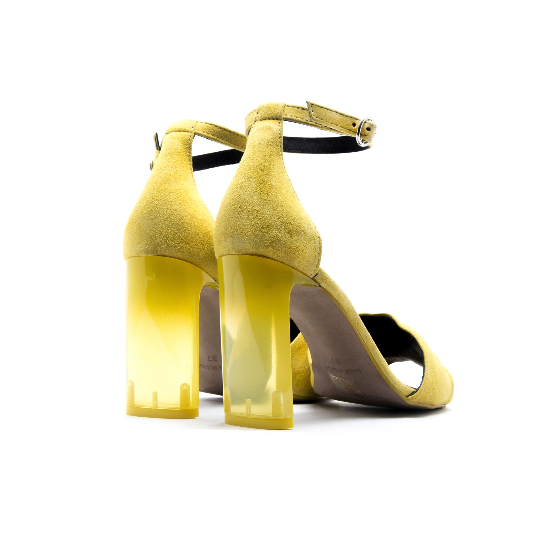 Clarissa Yellow Suede