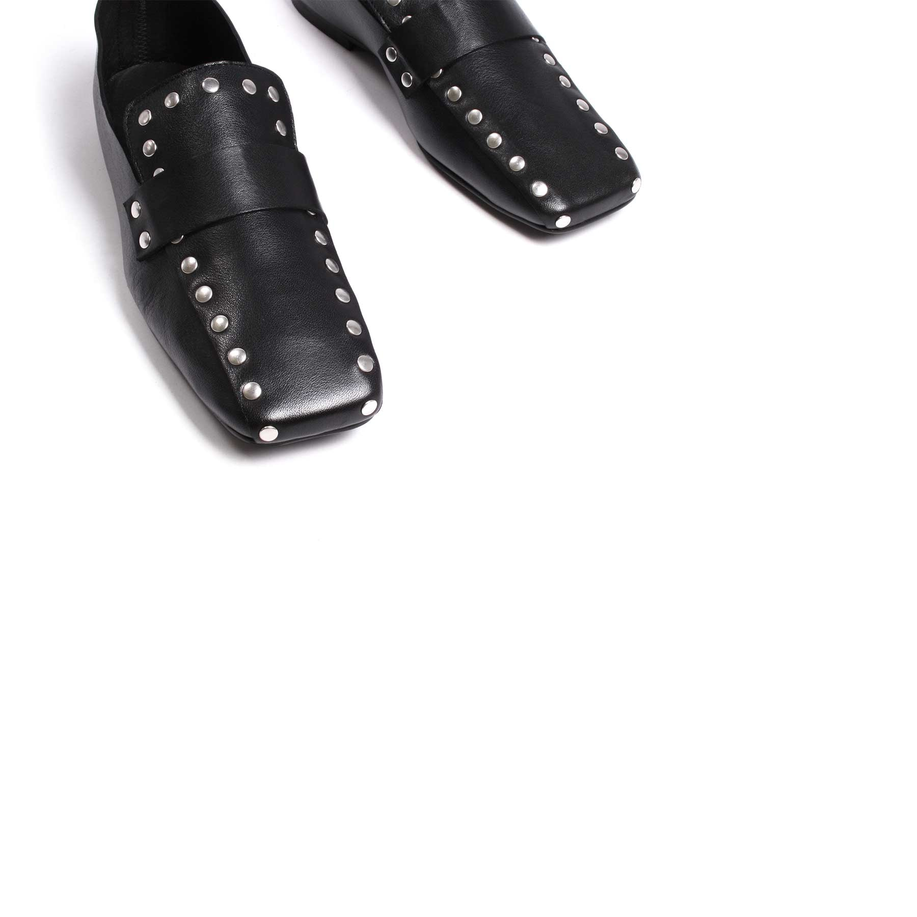 Shoes, Ego Black Leather - Lintervalle shoes for woman