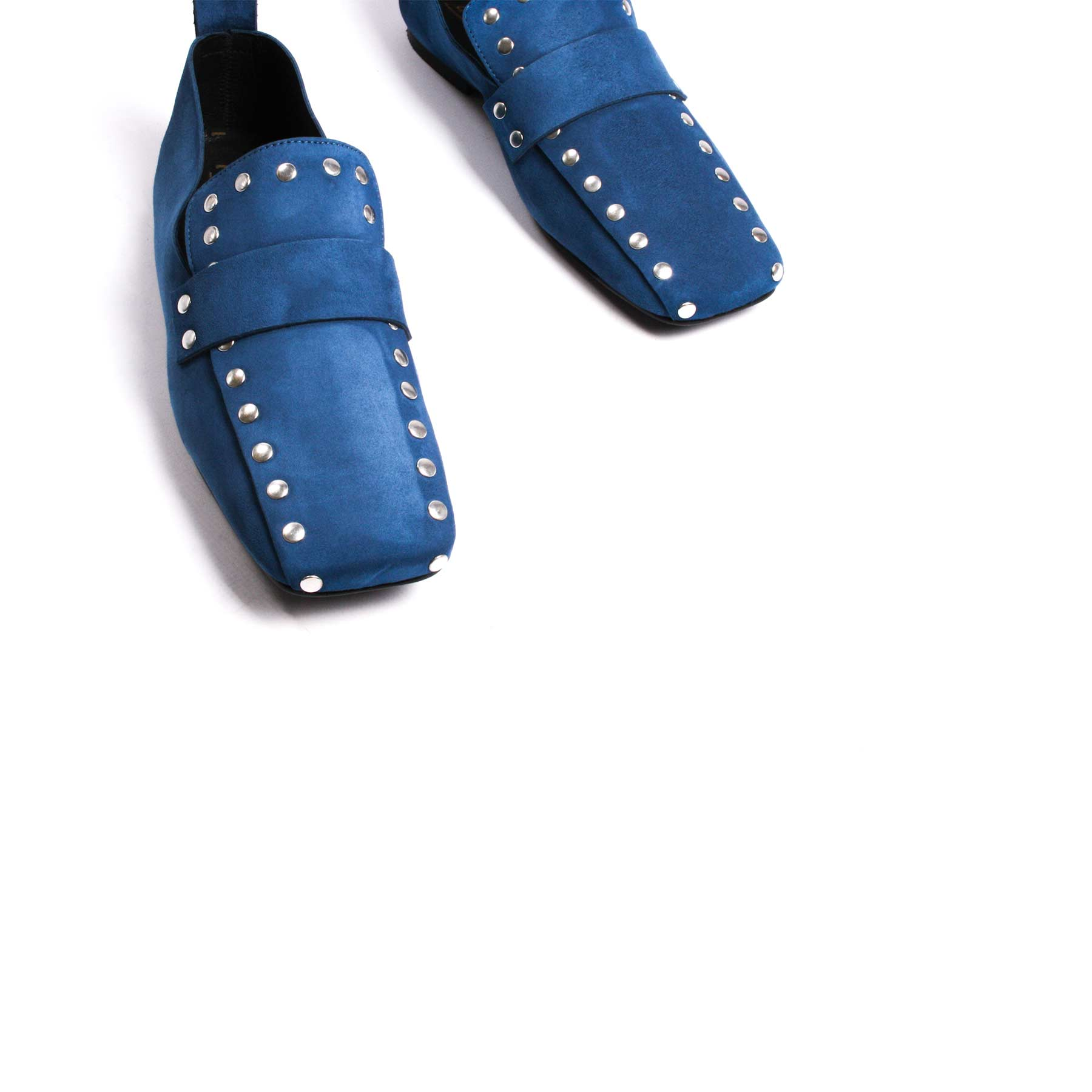 Shoes, Ego Blue Suede - Lintervalle shoes for woman