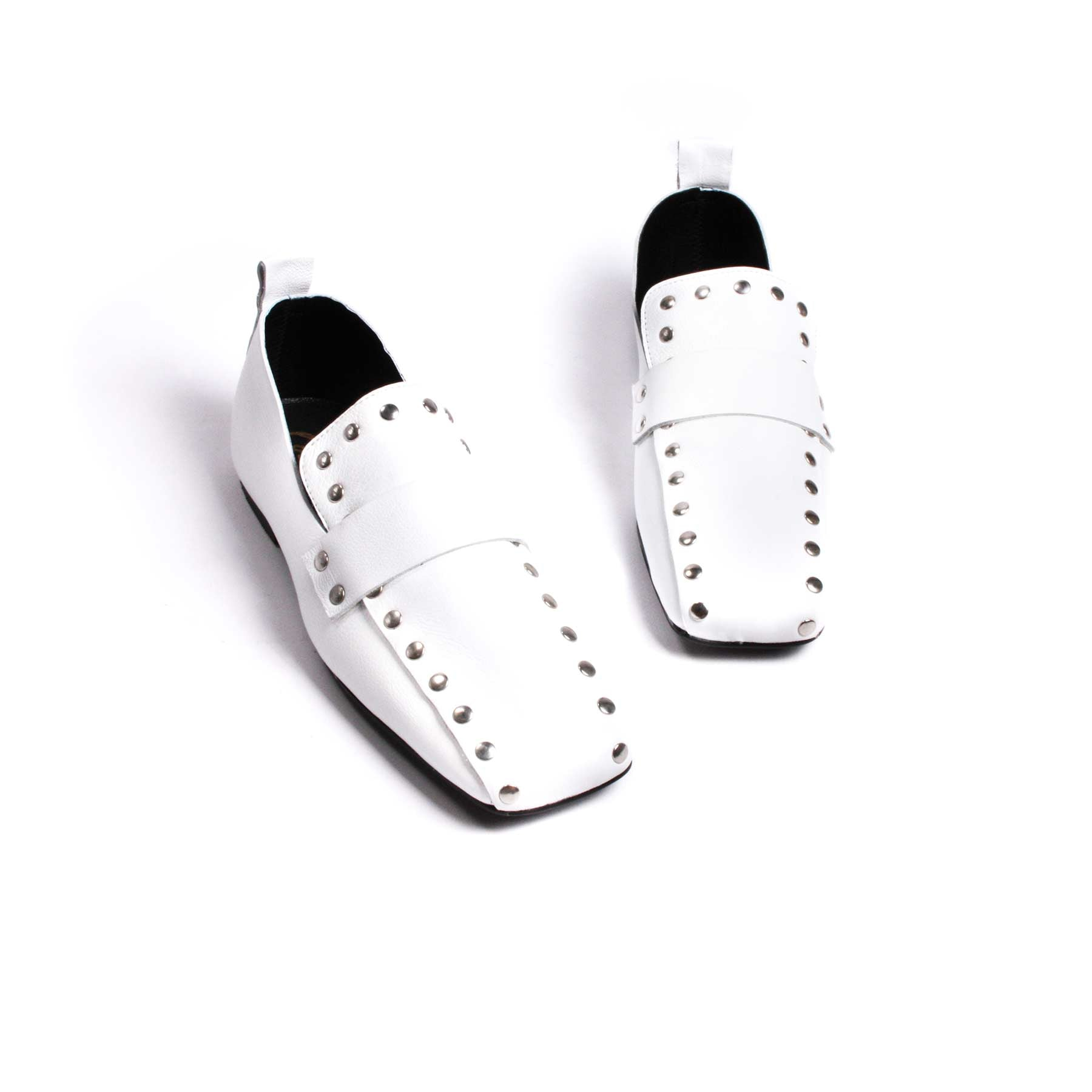 Shoes, Ego White Leather - Lintervalle shoes for woman