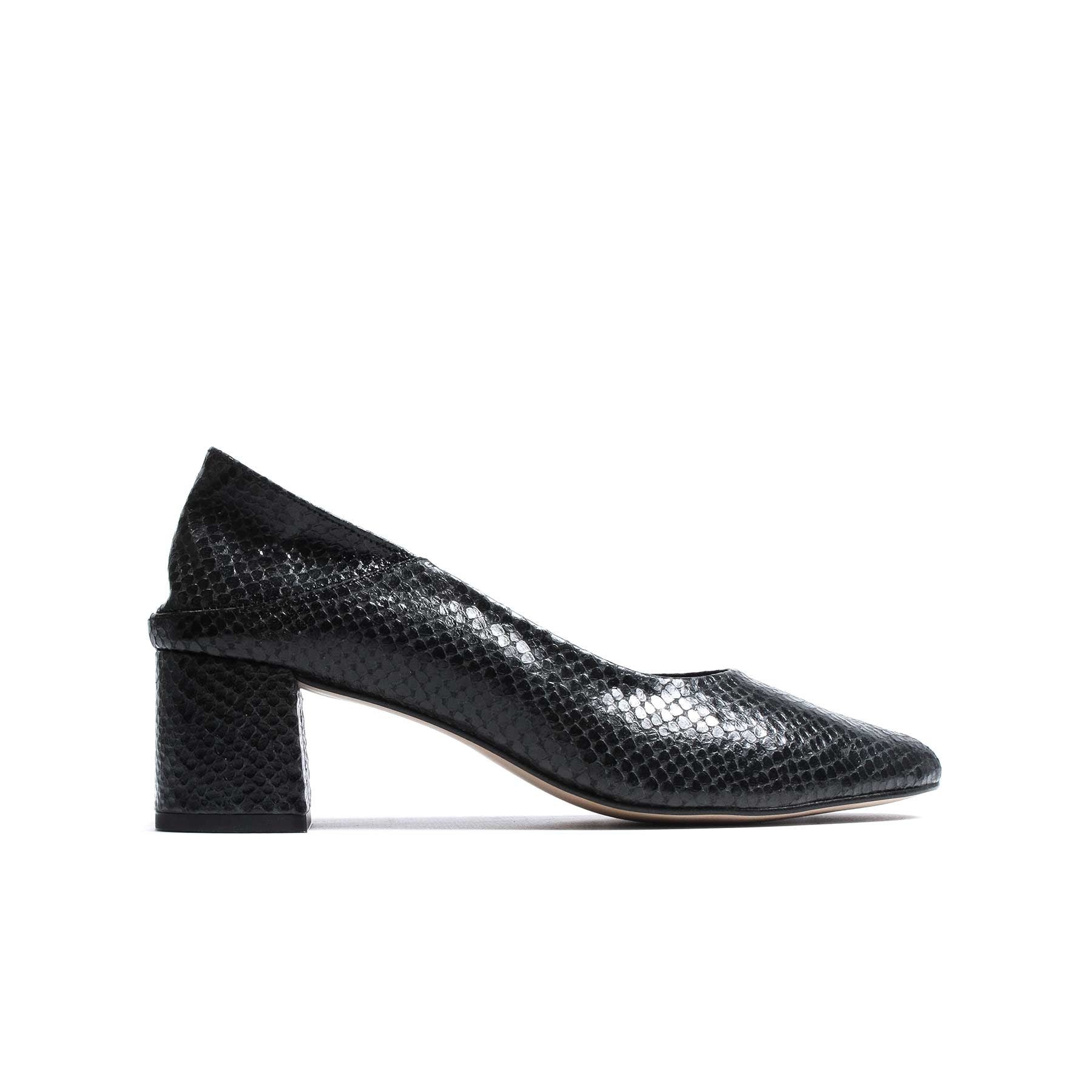 Julany Black Snake Leather
