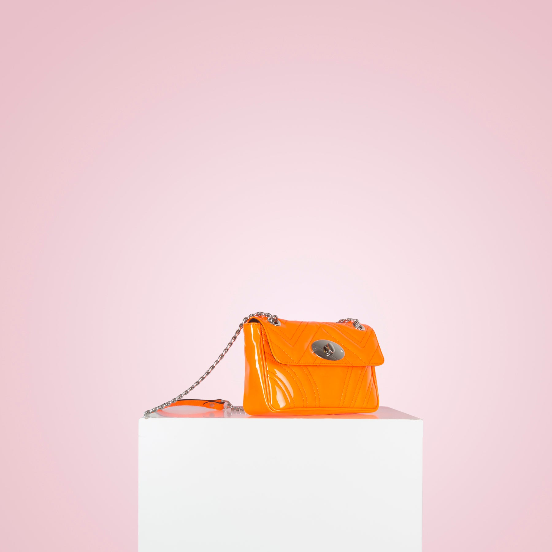 Juliet Neon Orange Patent