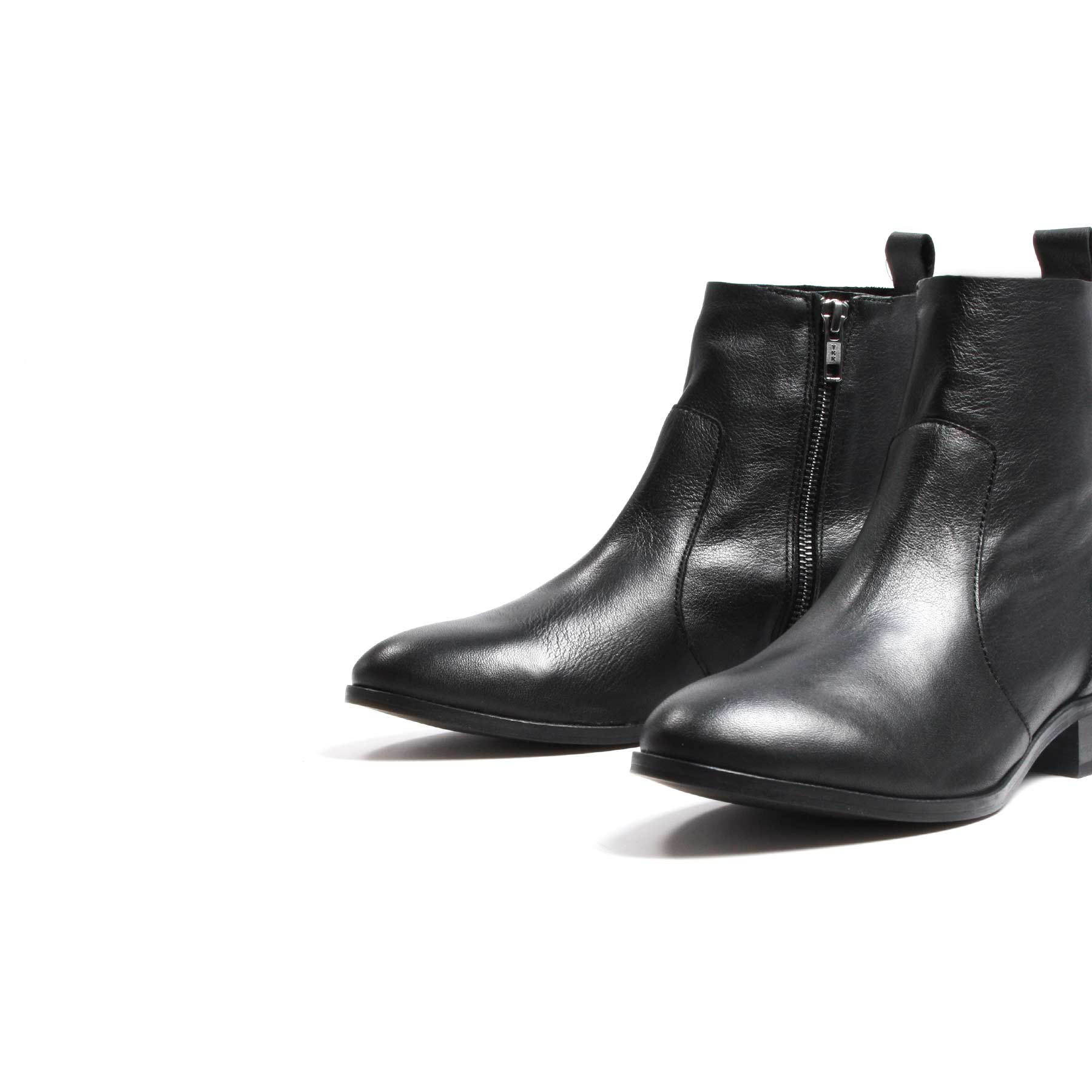 Mercer Black Leather Booties