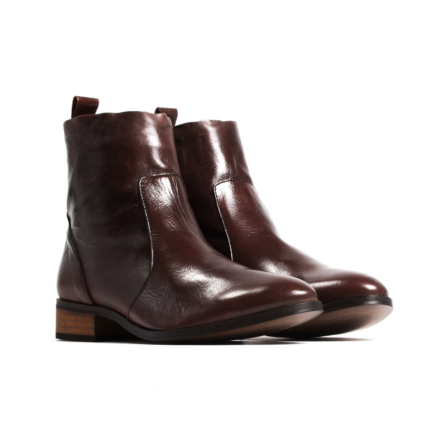 Mercer Brown Leather Booties