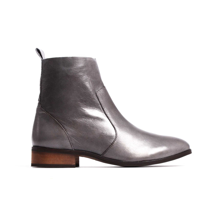 Mercer Grey Leather Booties