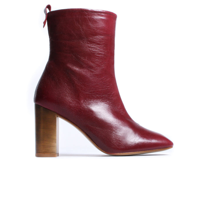 Nerina Burgundy Leather