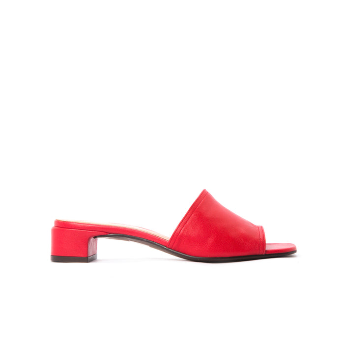 Ottavia Red Leather Sandals