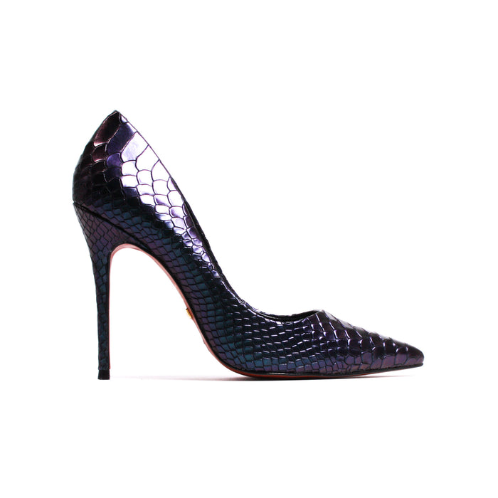 Teeva Snake Iridescent Leather