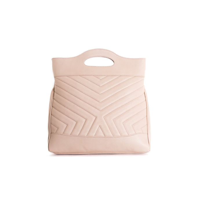 Alexi Pink Leather Tote Bags