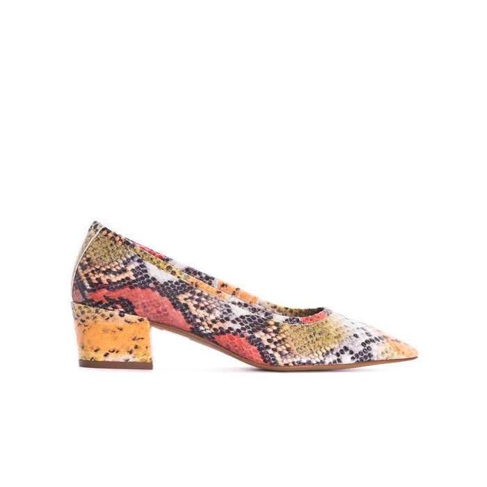 Alya Multi Snake Leather Shoes