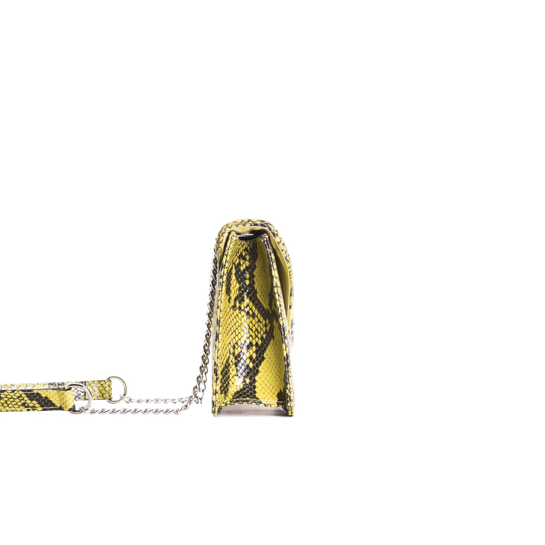 Amandine Yellow Snake Shoulder Bags