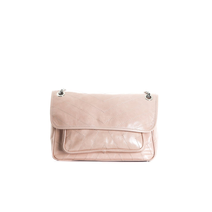 Amante Nude Leather Shoulder Bags