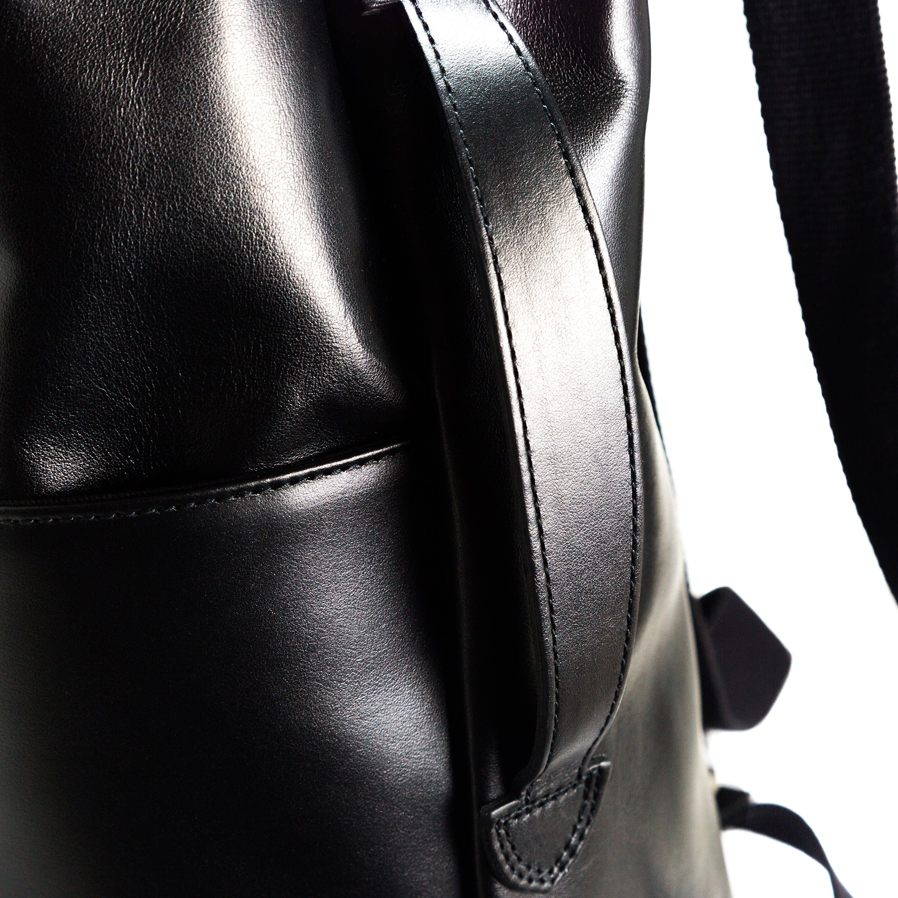 Libre Black Leather Backpacks