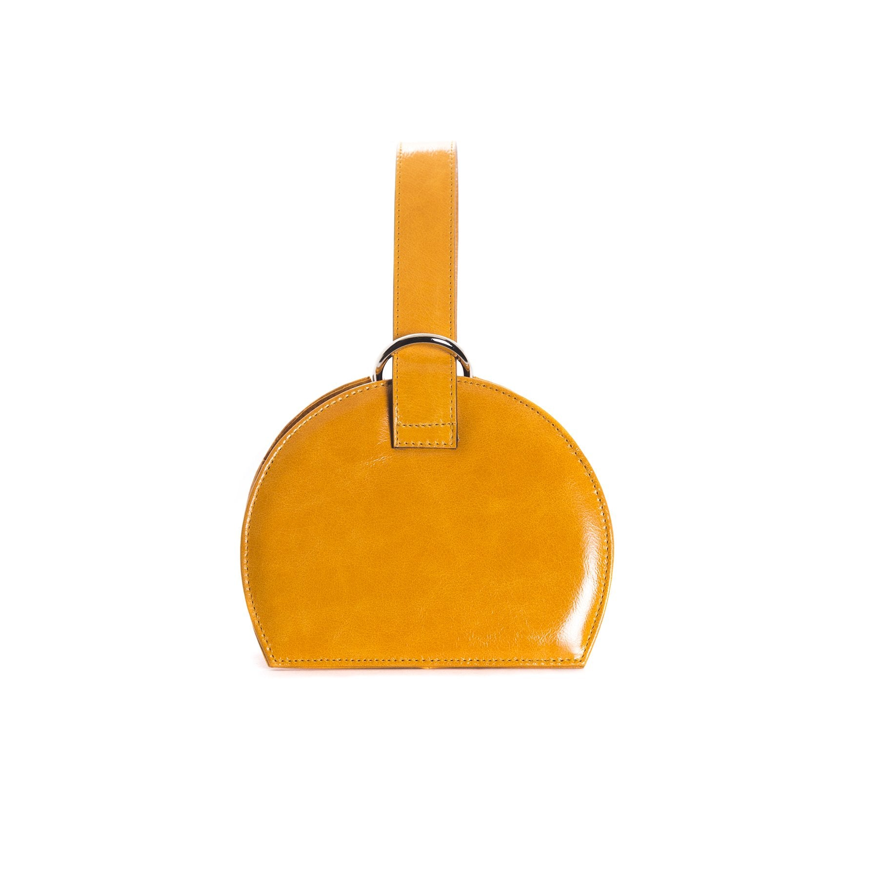 Amelie Orange Leather Mini Bags