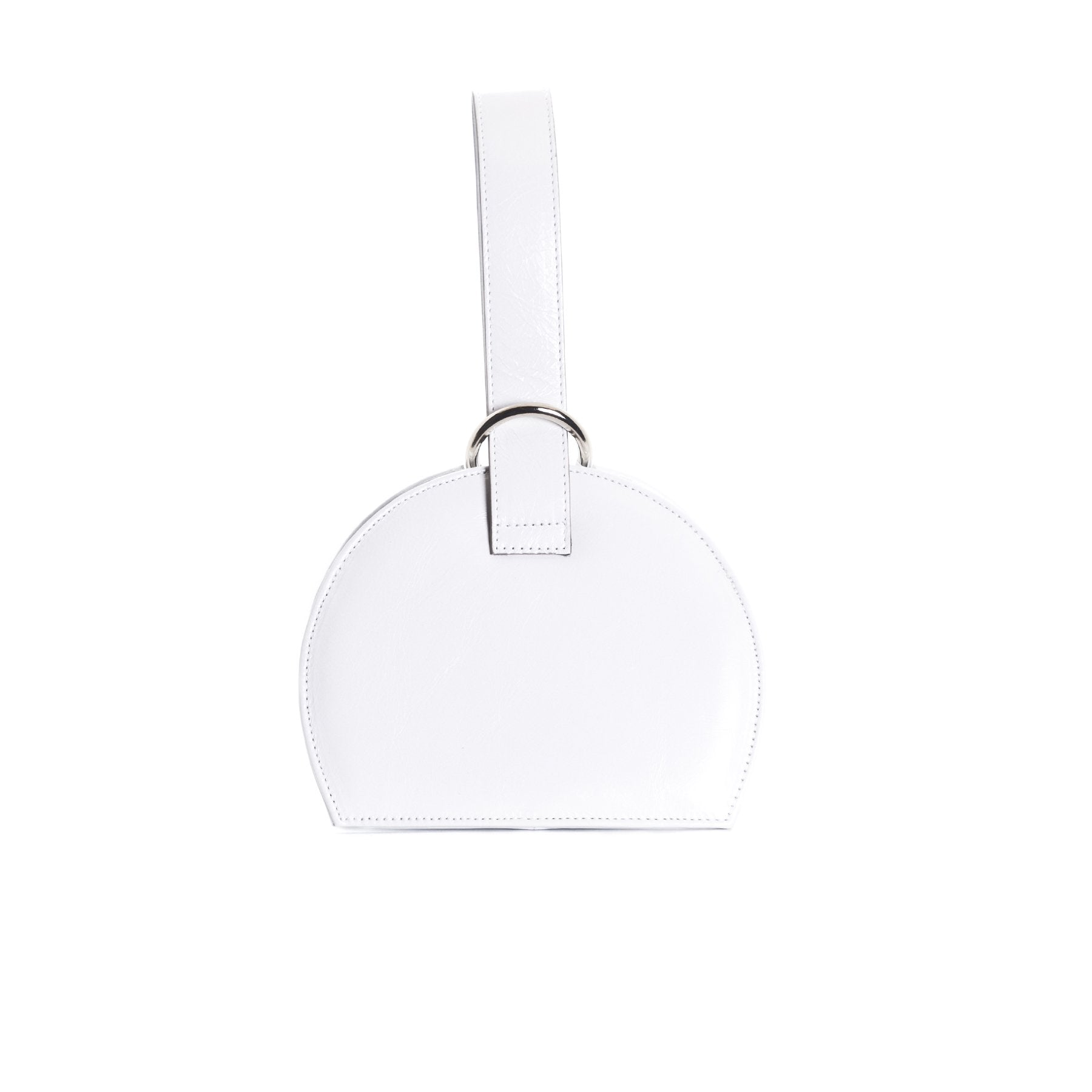 Amelie White Leather Mini Bags