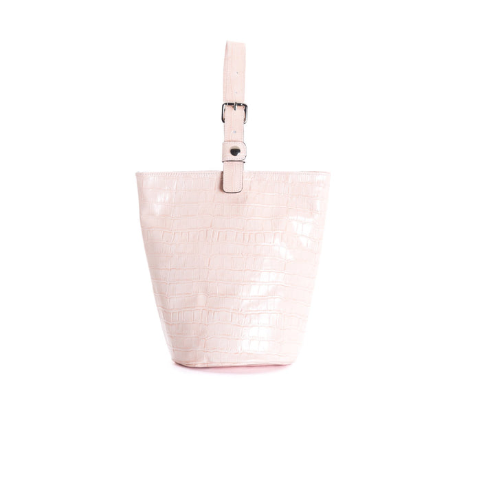 Angele Pink Croco Tote Bags