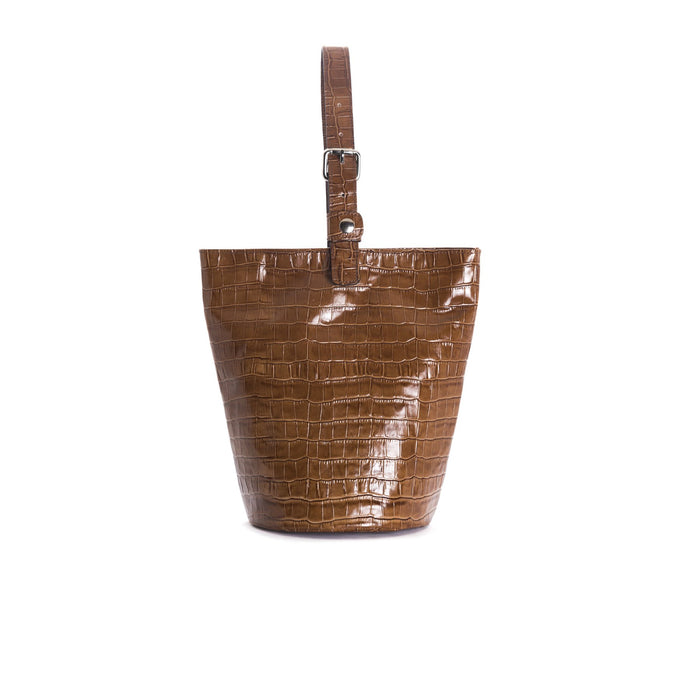 Angele Tan Croco Tote Bags