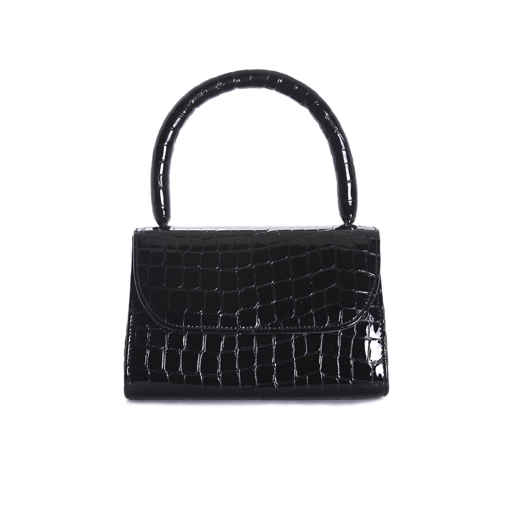 Anina Black Croco Leather Mini Bags