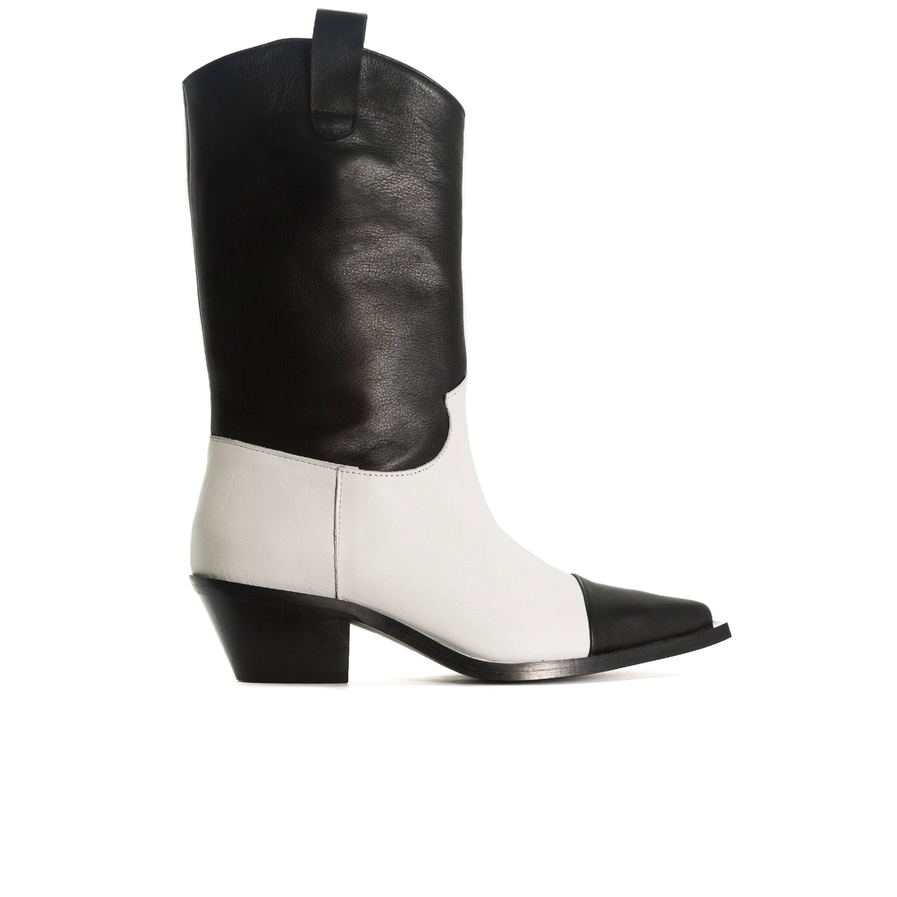 Annamaria Black&White Leather Booties
